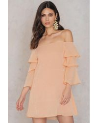 Endless Rose | Ruffle Sleeved Off Shoulder Dress | Lyst