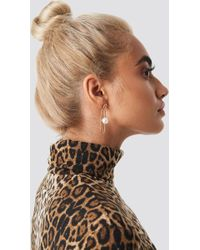 NA-KD - Taraneh Shayesteh Paperclip Earring Gold - Lyst