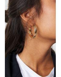 NA-KD - Layered Hoop Earrings Gold - Lyst