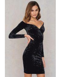 NA-KD - Off Shoulder Velvet Dress - Lyst