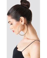 Trendyol - Large Rhinestone Earrings - Lyst