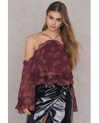 Keepsake - Moonlight Top Plum Floral - Lyst