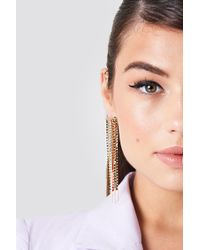NA-KD - Colorful Rhinestone Chain Earrings - Lyst