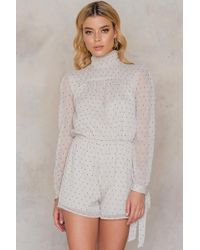 NA-KD | Sheer Knot Playsuit | Lyst