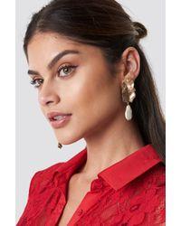 Mango - Carbie Earring Gold - Lyst