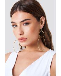 NA-KD - Big Double Ring Earrings - Lyst