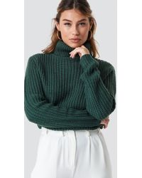 Rut&Circle - Tinelle Rollneck Knit Forest Green - Lyst
