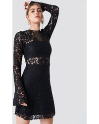 Trendyol - Trumpet Sleeve Lace Mini Dress - Lyst