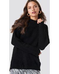 Glamorous - Overlap Back Slit Knitted Jumper - Lyst