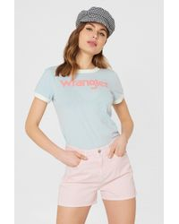 Wrangler - Retro Boy Shorts Pretty Pink - Lyst
