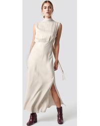 Mango - Cava Dress Marfil - Lyst