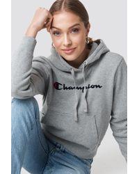 Champion - Hooded Sweatshirt Grey - Lyst