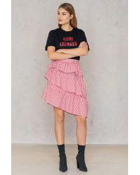 NA-KD - Triple Layer Gingham Skirt - Lyst