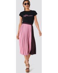 Trendyol - Block Midi Skirt Pink - Lyst