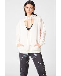 Glamorous - Cut Out Hoodie - Lyst