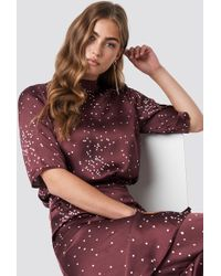Rut&Circle - Dotty Short Sleeve Blouse Wine Red - Lyst