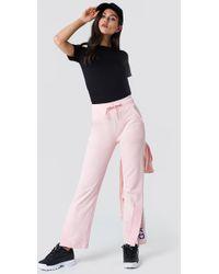 NA-KD - Slit Embroidery Sweatpants - Lyst