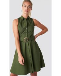 Mango - Wendy Dress Green - Lyst