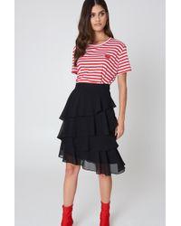 NA-KD | Chiffon Flounce Skirt | Lyst