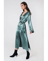 Glamorous - Long Sleeve Robe Dress - Lyst