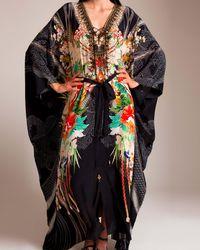 Camilla - Queen Of Kings Split Front Lace Up Kaftan - Lyst
