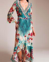 Camilla - Her Heirloom Long Sleeve Wrap Dress - Lyst