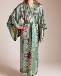 Meng - Long Silk Satin Kimono - Lyst
