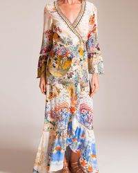 Camilla - Lady Labyrinth Long Sleeve Wrap Dress - Lyst