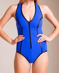 Karla Colletto - Pleather U-wire Racerback Swimsuit - Lyst