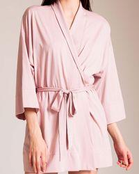 Skin Pima Cotton Serena Kimono - Pink