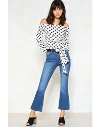 Nasty Gal - I Flare About You Cropped Jeans - Lyst