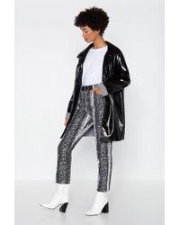 Nasty Gal - Snake Haste Straight-leg Jeans - Lyst