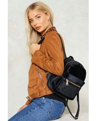 Nasty Gal - Want Put Your Hands On Velvet Backpack Want Put Your Hands On Velvet Backpack - Lyst