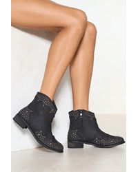 Nasty Gal | I'm Still Standing Studded Boot | Lyst