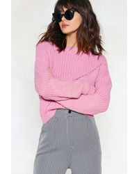 Nasty Gal - See To Knit Relaxed Sweater See To Knit Relaxed Sweater - Lyst