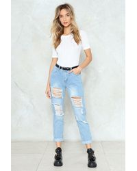 Nasty Gal - Gemma All Over Ripped Jean Gemma All Over Ripped Jean - Lyst