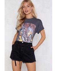 Nasty Gal - In The Raw Denim Shorts - Lyst