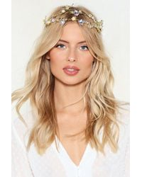 Nasty Gal - Being A Queen Floral Crown - Lyst