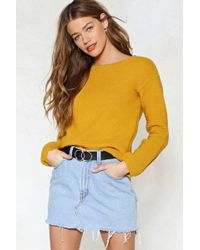 Nasty Gal - Have Knit Easy Relaxed Sweater Have Knit Easy Relaxed Sweater - Lyst