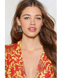 Nasty Gal - Would You Be-weave It Earrings - Lyst