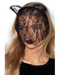Nasty Gal - I See You Lace Cat Headband - Lyst