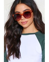 Nasty Gal - Go Big Oversized Shades - Lyst
