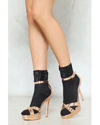 Nasty Gal - Can We Have Some Extra Sequin Socks - Lyst