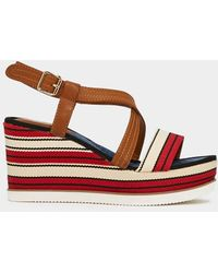 Nasty Gal - Feeling Nautical Tonight Striped Wedge - Lyst
