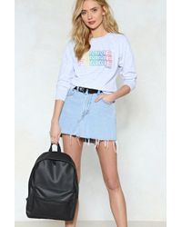 Nasty Gal - Want Back On It Faux Leather Backpack - Lyst