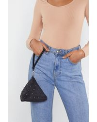 """Nasty Gal - """"want From Every Triangle Stud Clutch Bag"""" - Lyst"""