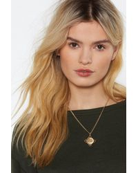 Nasty Gal - All In Sovereign Pendant Necklace - Lyst