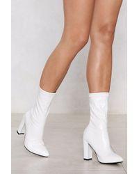Nasty Gal - Put A Sock In It Heel Boot - Lyst