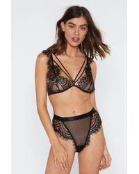 Nasty Gal God Is A Woman Strappy Lace Bralette And Panty Set