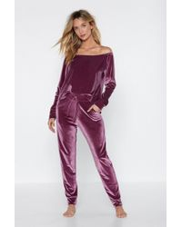 Nasty Gal - Velour Lounge Jogger - Lyst